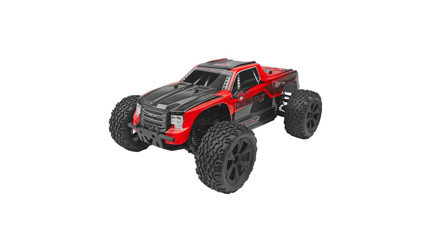 Image for 1/10 Blackout XTE 4WD Monster Truck Brushed RTR, Red from HorizonHobby