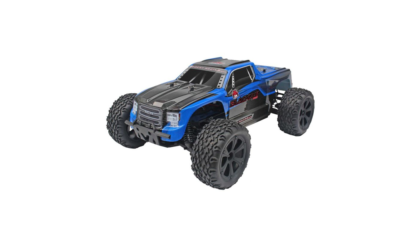 Image for 1/10 Blackout XTE Pro 4WD Monster Truck Brushless RTR, Blue from HorizonHobby
