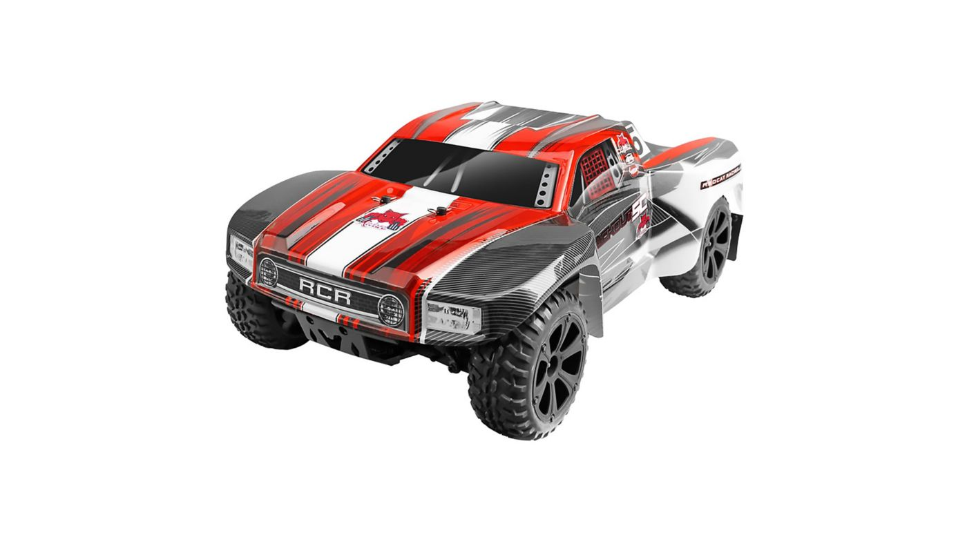 Image for 1/10 Blackout SC 4WD Short Course Truck Brushed RTR, Red from HorizonHobby