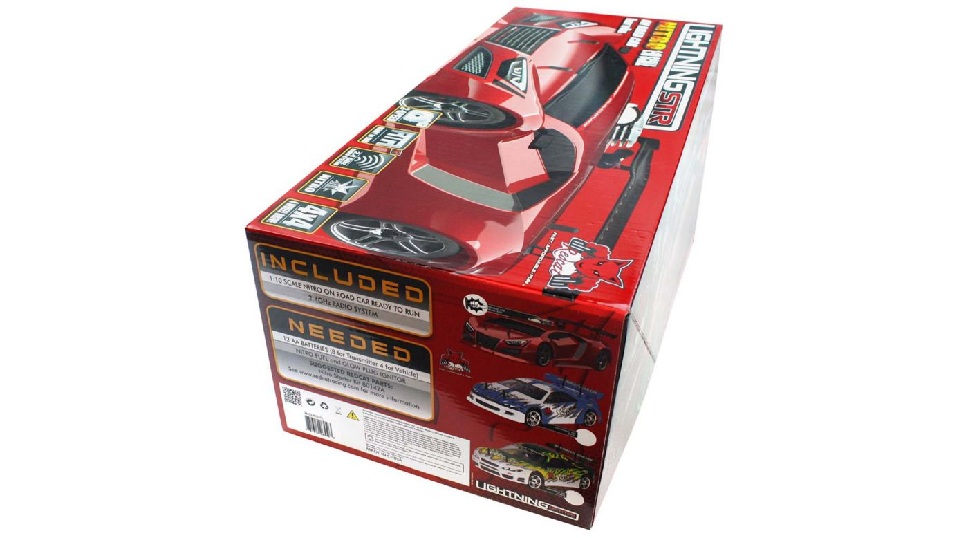 Image for 1/10 Lightning STR Nitro Drift Car RTR, Red from HorizonHobby