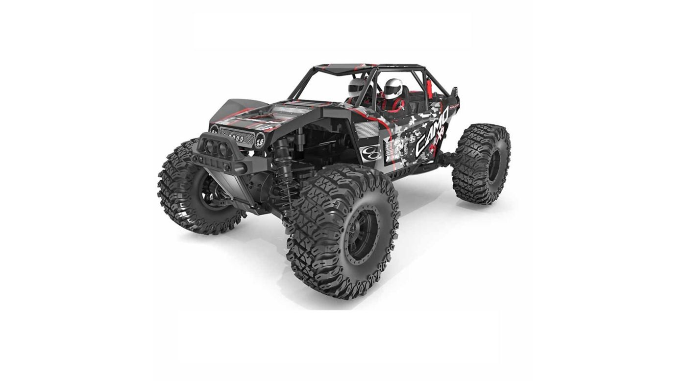 Image for 1/10 Scale Camo X4 Pro Brushless Rock Racer from HorizonHobby