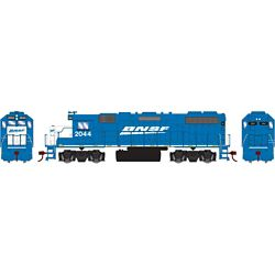 Athearn 12621 HO GP38-2 w/DCC Burlington Northern Santa Fe BNSF/Blue #2044