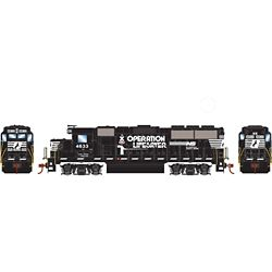 Roundhouse 12653 HO GP59 w/DCC Norfork Southern NS #4633