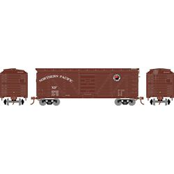 Roundhouse 2891 HO 40' Ribbed Wooden Box Northern Pacific #28030
