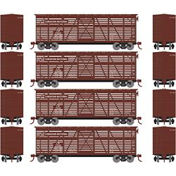Roundhouse 2927 HO 40' Stock Car, CN (4)