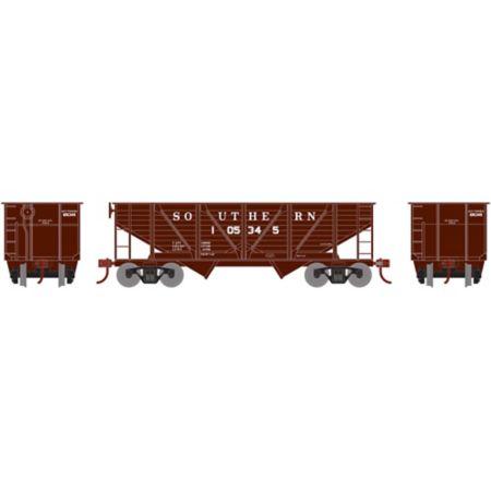 Roundhouse 70913 HO 34' 2-Bay Hopper w/Coal Load, SOU #105345 RND70913