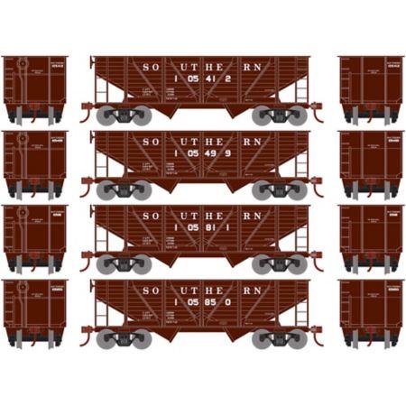 Roundhouse 70916 HO 34' 2-Bay Hopper w/Coal Load, SOU #3 (4) RND70916