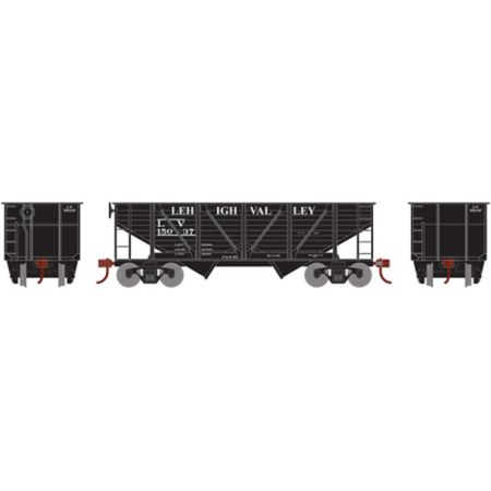 Athearn 70921 HO 34' 2-Bay Hopper w/Coal Load, LV #15037 RND70921
