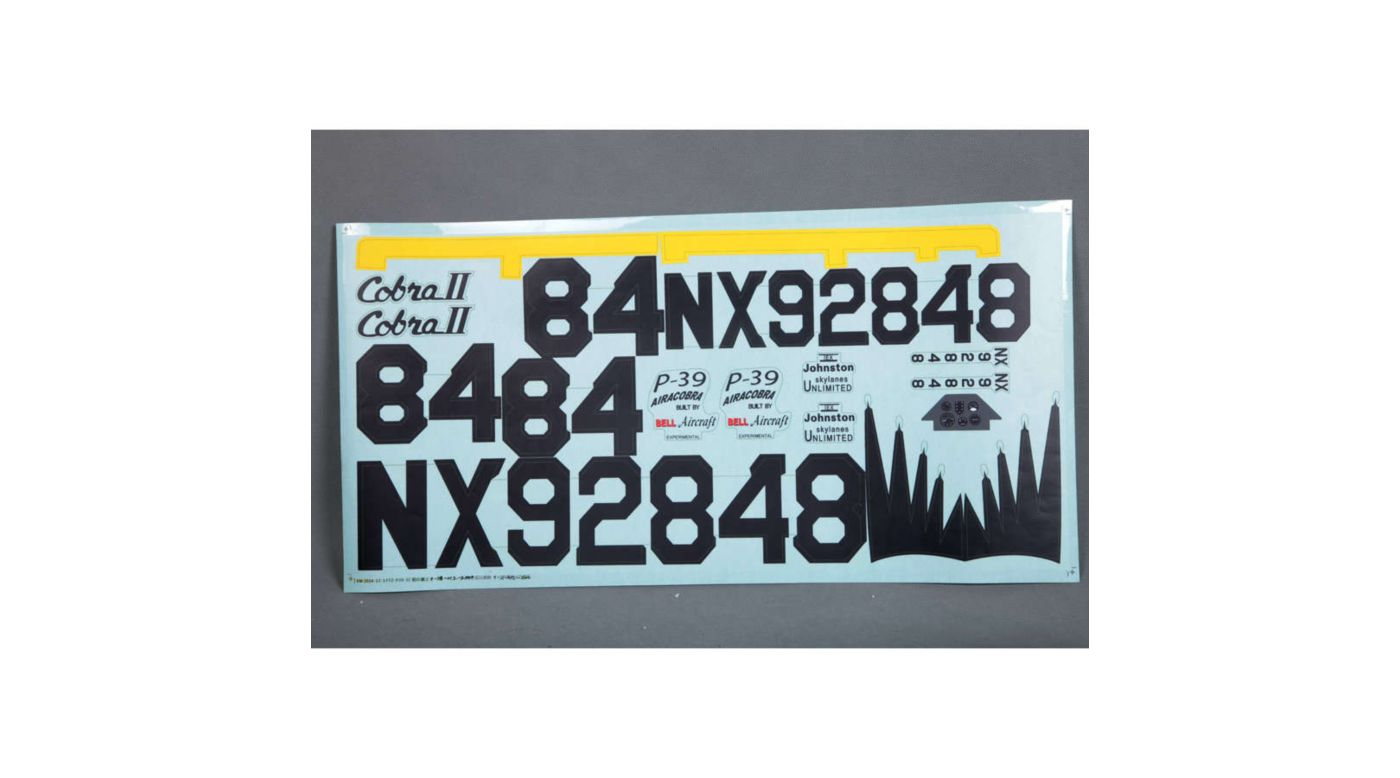 Image for Decal Sheet: P-39 from HorizonHobby