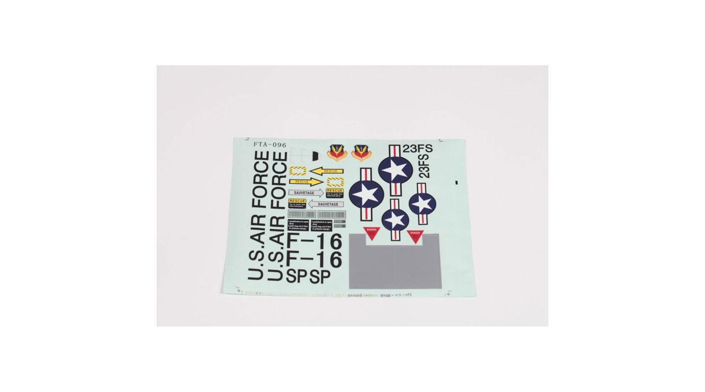 Image for Decal: F16 V2 from HorizonHobby