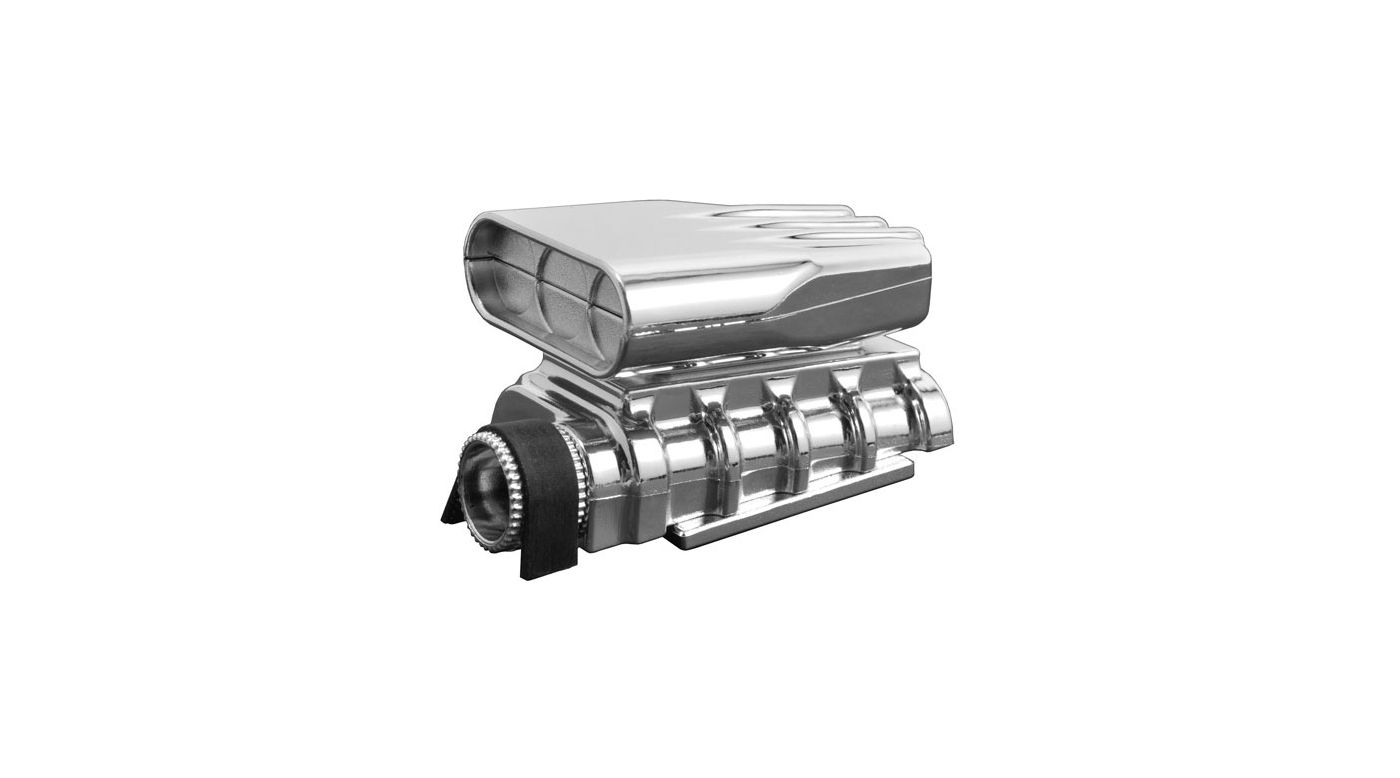 Image for Mock Intake and Blower Set, Chrome from HorizonHobby