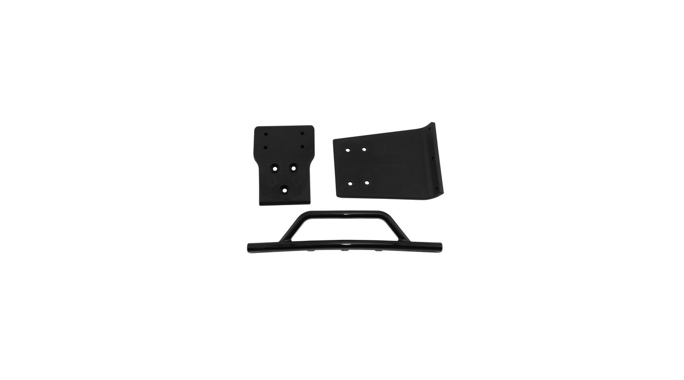 Image for Front Bumper/Skid Plate, Black: SLH 4x4 from HorizonHobby