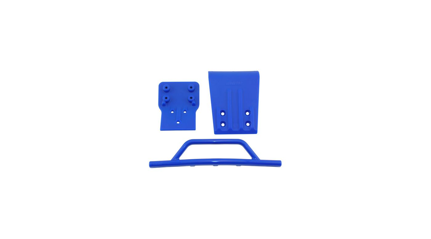 Image for Front Bumper/Skid Plate, Blue: SLH 4x4 from HorizonHobby