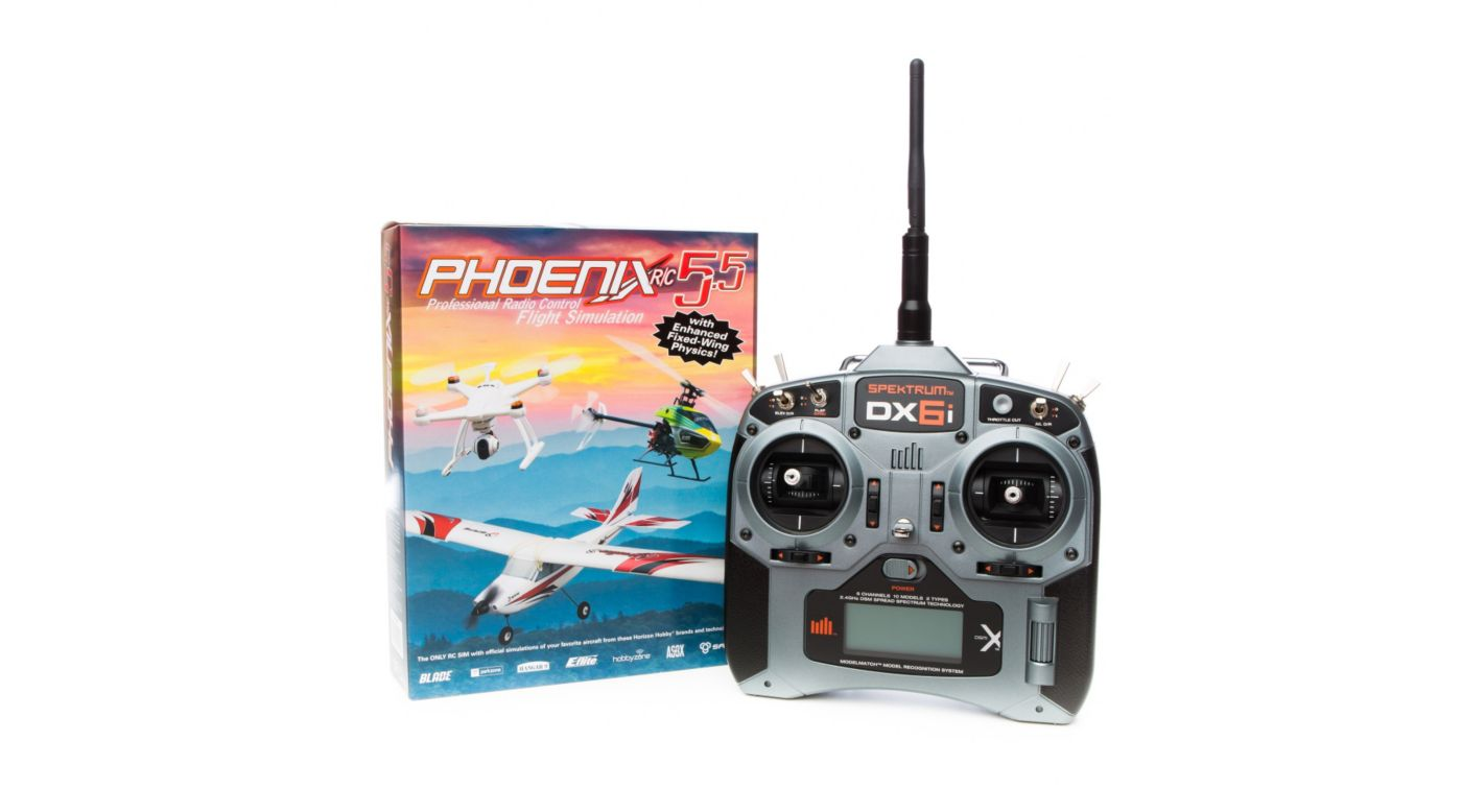 Image for Phoenix R/C Pro Simulator V5.5 with DX6i Transmitter from HorizonHobby