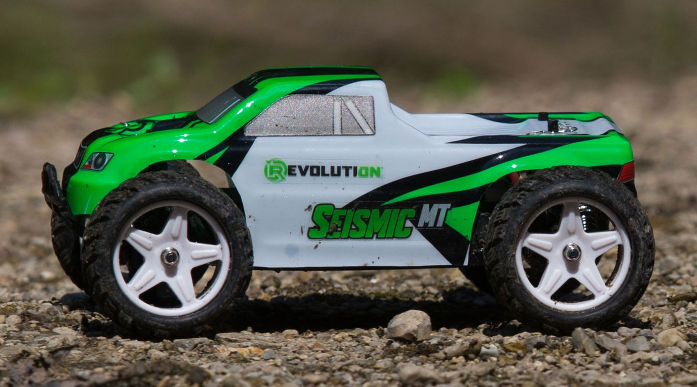 Image for 1/18 Seismic 4WD Monster Truck RTR  Green/White from HorizonHobby