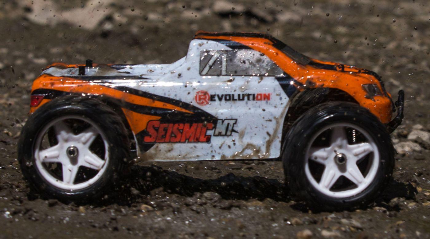 Image for 1/18 Seismic 4WD Monster Truck RTR Orange/White from HorizonHobby