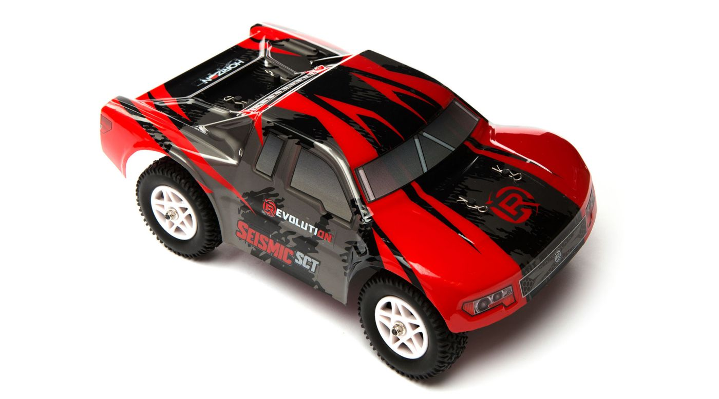 Image for 1/18 Seismic 4WD Short Course Truck RTR Red/Black from Horizon Hobby