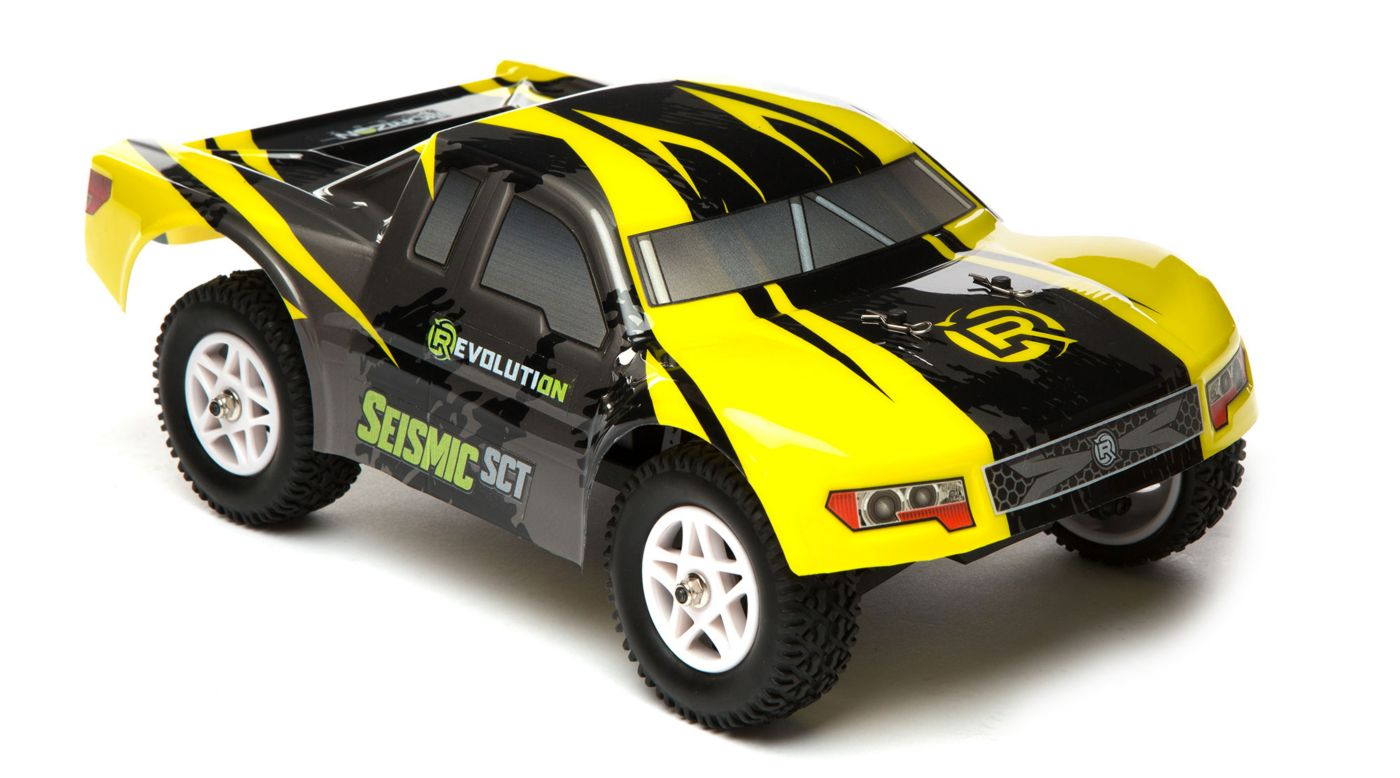 Image for 1/18 Seismic 4WD Short Course Truck RTR Yellow/Black from HorizonHobby