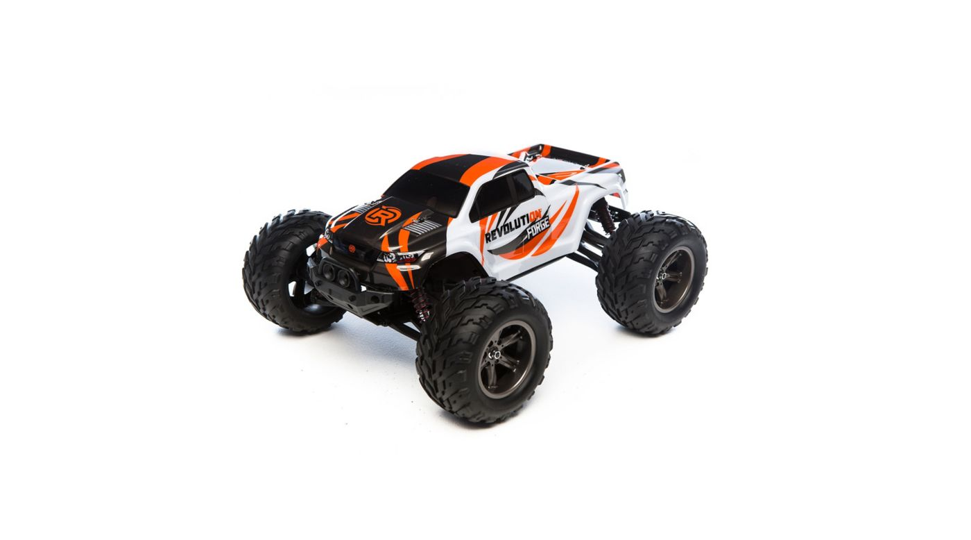1/12 Forge 2WD Monster Truck RTR, Grey/Orange | HorizonHobby
