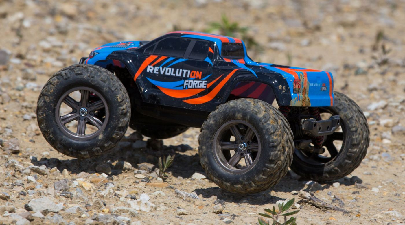 Image for 1/12 Forge 2WD Monster Truck RTR, Blue/Orange from HorizonHobby