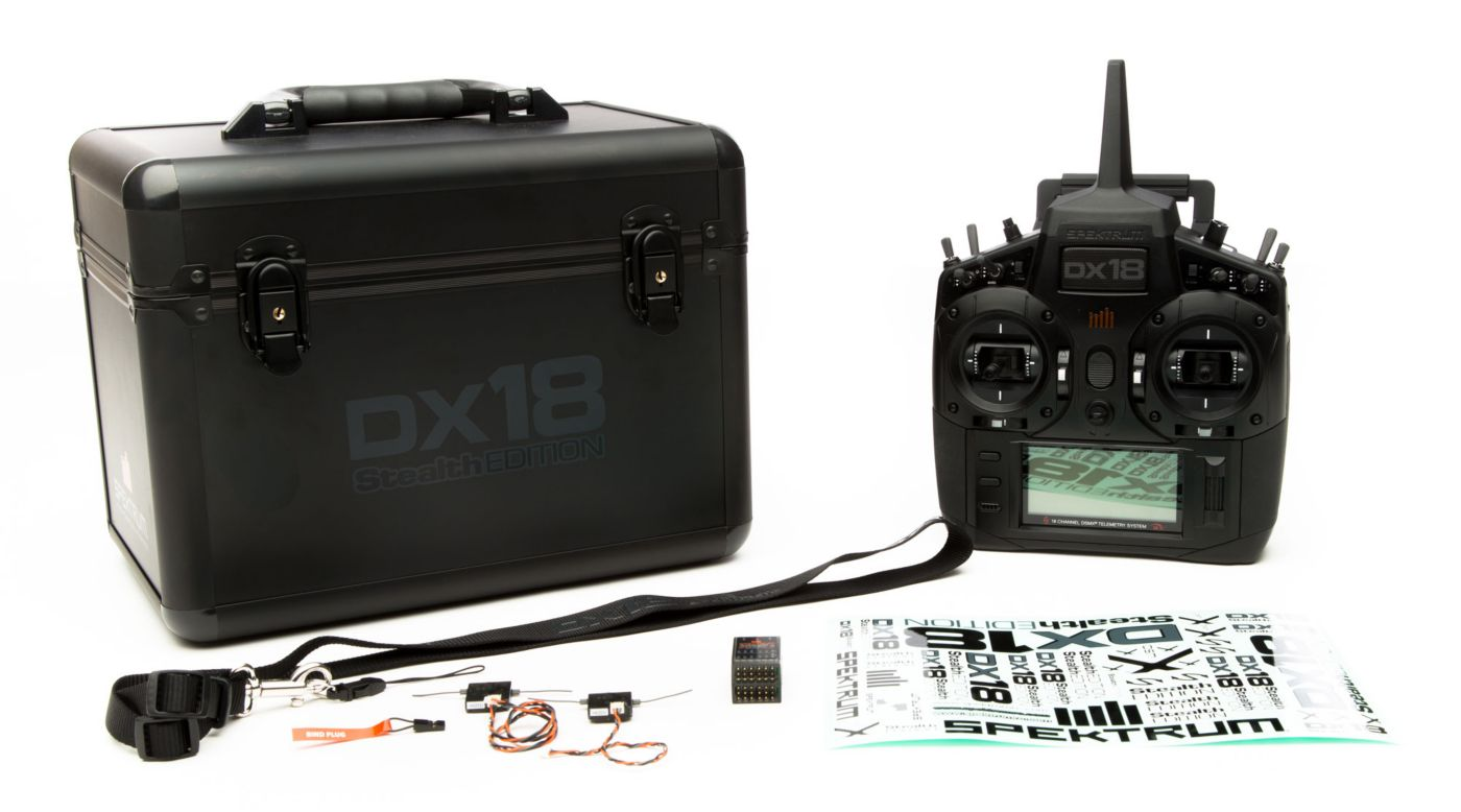 Image for DX18 Stealth Edition 18-CH TX System MD2 with AR9020 from HorizonHobby