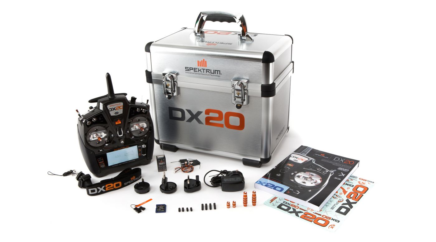 Image for DX20 20-Channel DSMX Transmitter with AR9020, Mode 2 from HorizonHobby
