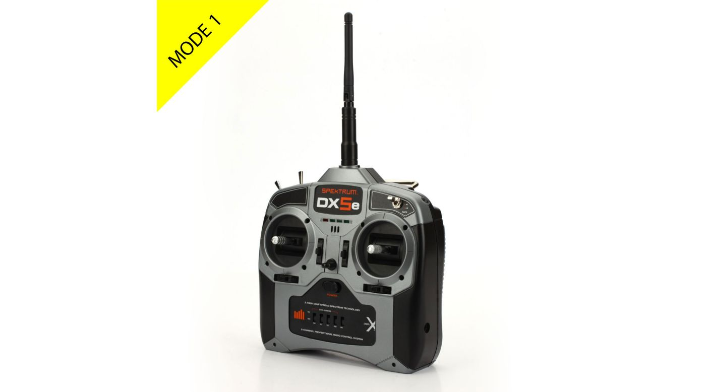 Image for DX5e 5-Channel DSMX® Transmitter with AR600 Receiver, Mode 1 from HorizonHobby