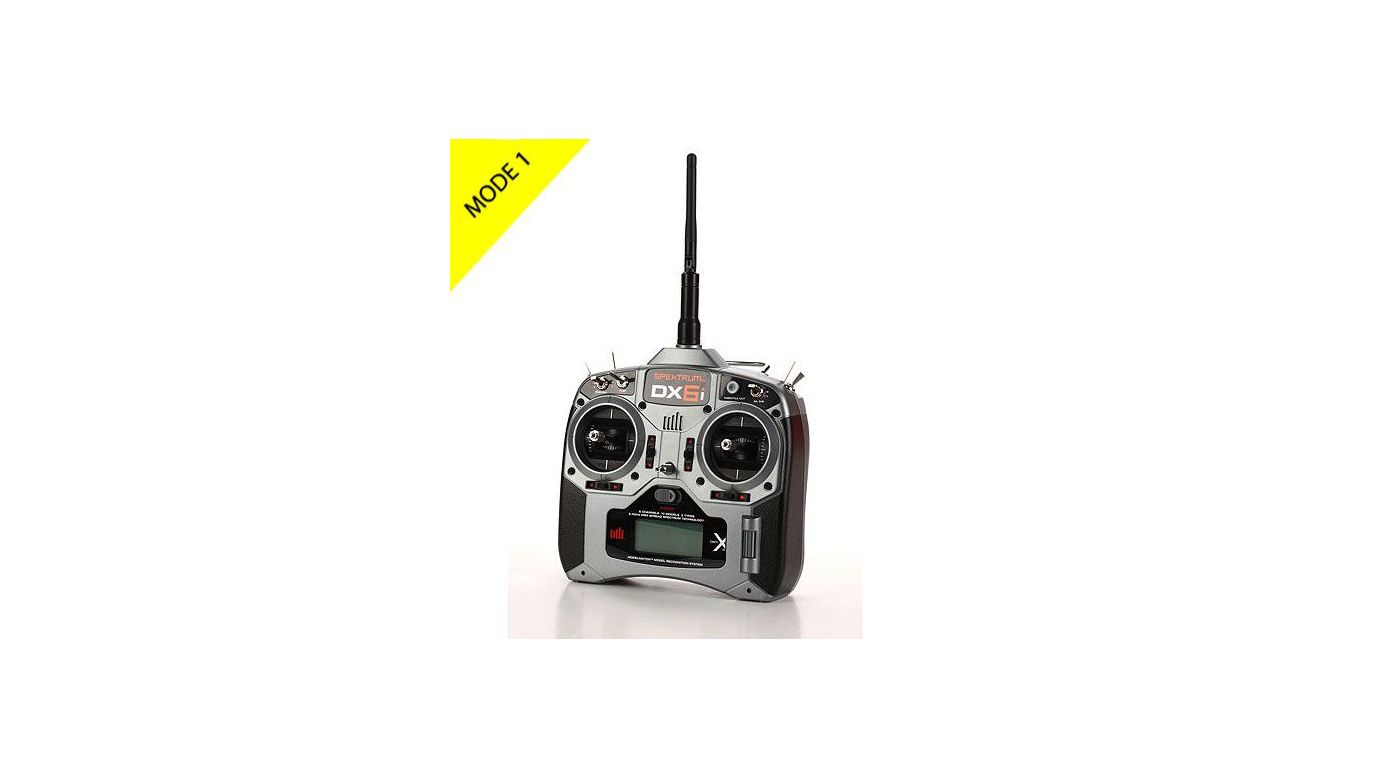 Image for DX6i 6-Channel DSMX® Transmitter with AR6210 Receiver, Mode 1 from HorizonHobby
