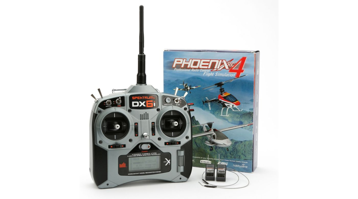 Image for Pilot Proficiency Kit (DX6i with two AR400 and Phoenix 4) from HorizonHobby