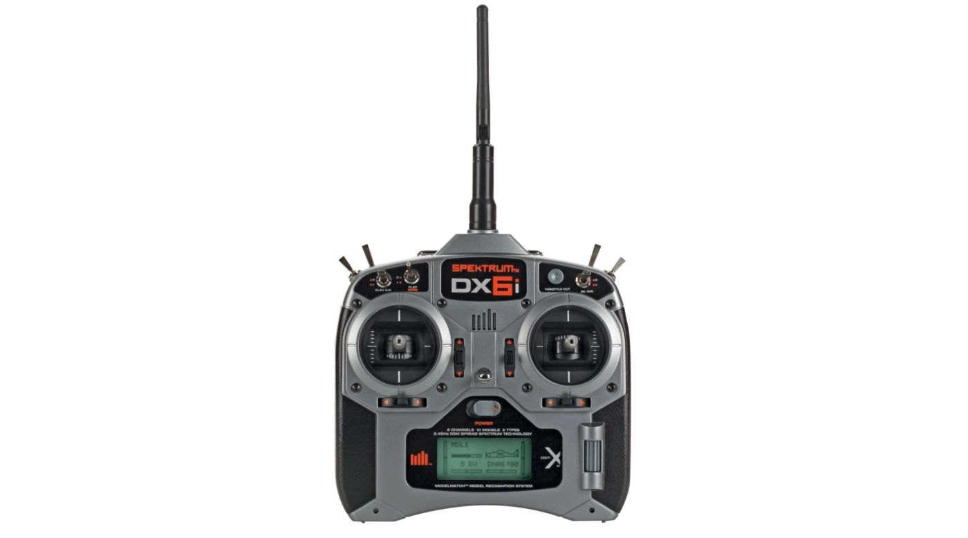 Image for DX6i 6-Channel DSMX® Transmitter with AR6210 Receiver, Mode 2 from HorizonHobby