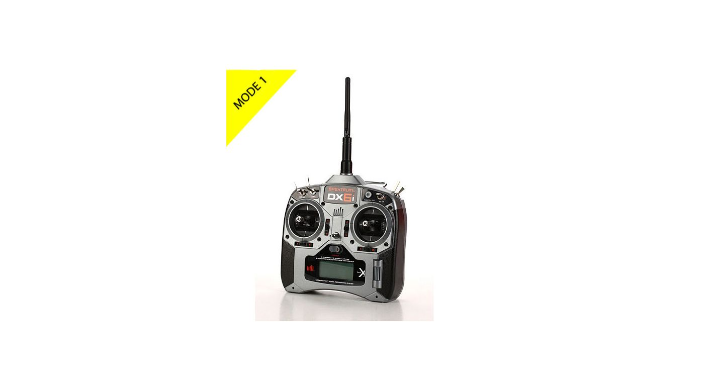 Image for DX6i DSMX 6-Channel Full Range Microlite Mode 1 from HorizonHobby
