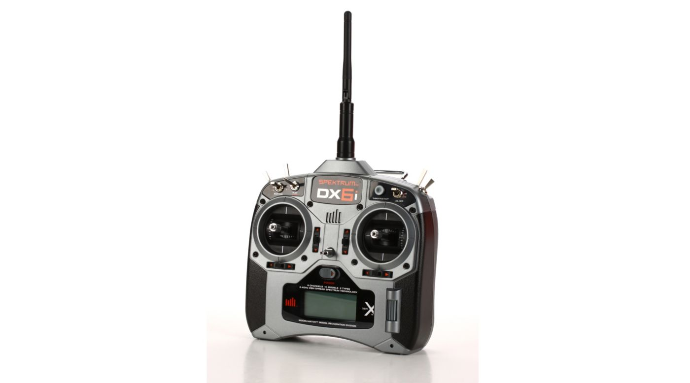Image for DX6i DSMX 6-Channel Full Range Microlite Mode 2 from HorizonHobby