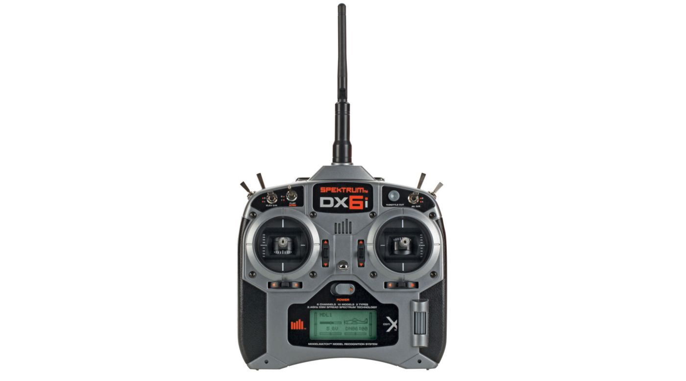 Image for DX6i 6-Channel DSMX® Transmitter with AR610 Receiver, Mode 2 from HorizonHobby