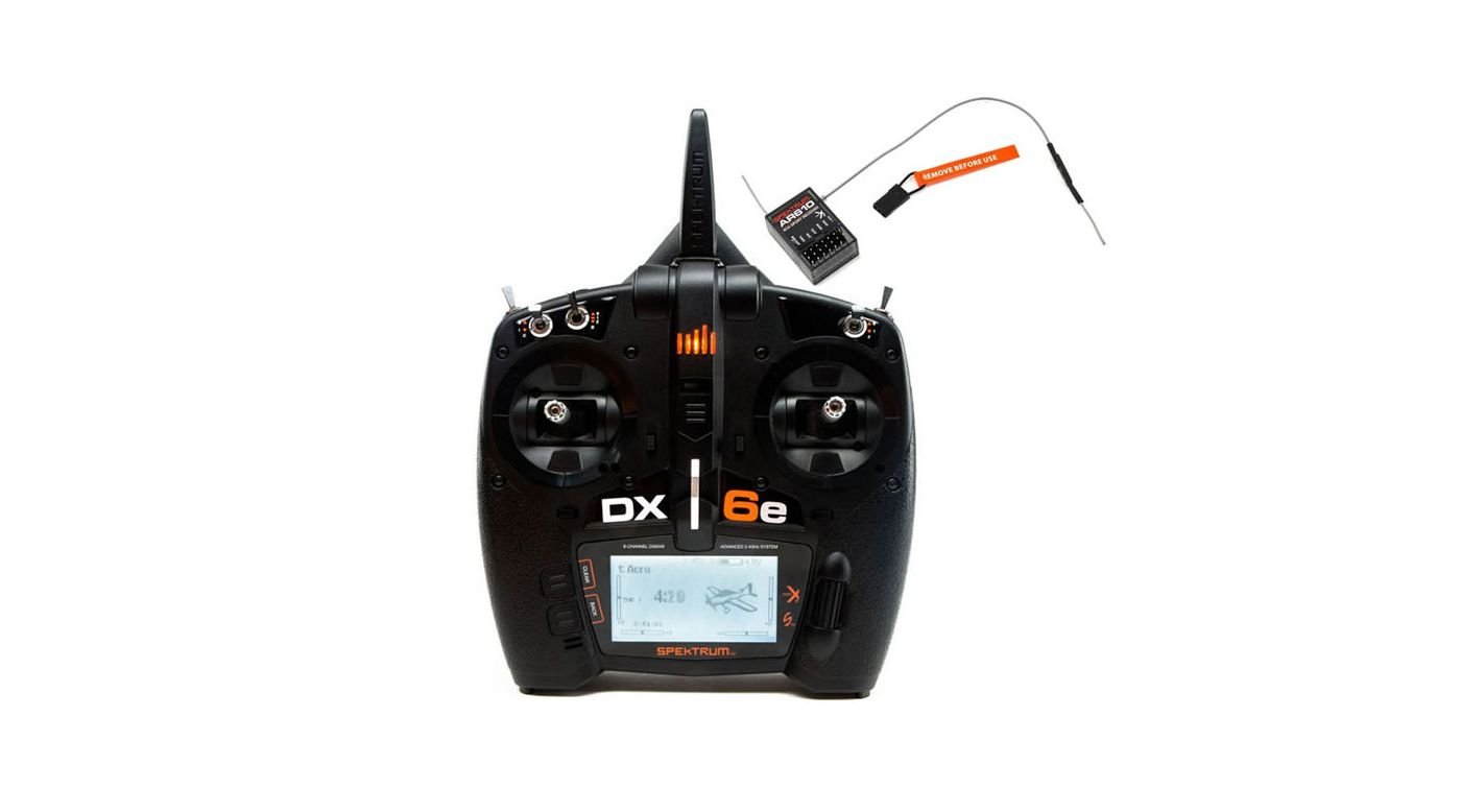 Image for DX6e 6-Channel DSMX Transmitter with AR610 Receiver from Horizon Hobby