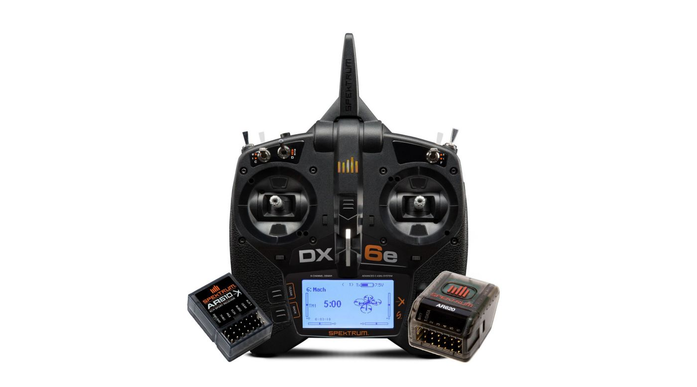Grafik für DX6e 6-Channel Radio System with AR620 + AR610 in Horizon Hobby