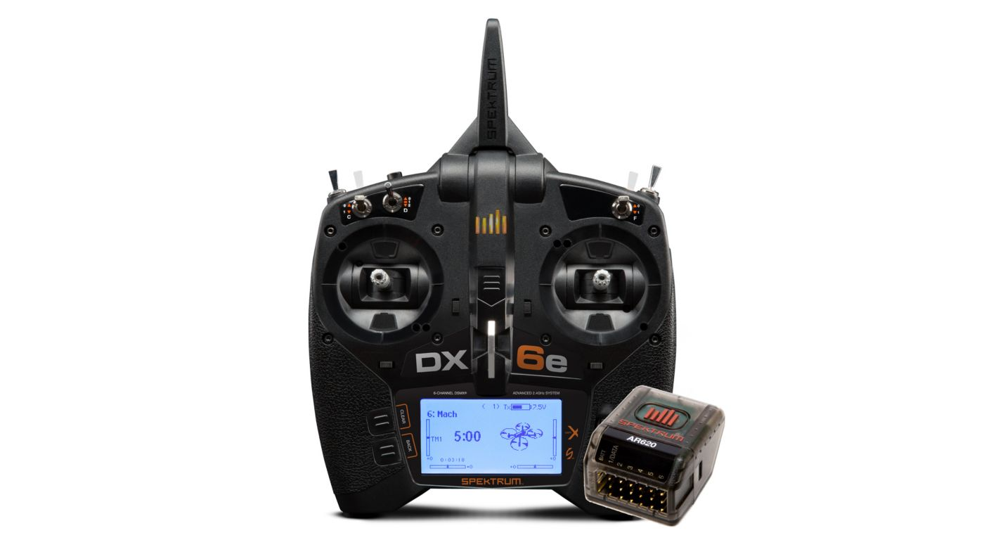 Image for DX6e 6-Channel DSMX Transmitter with AR620 from HorizonHobby