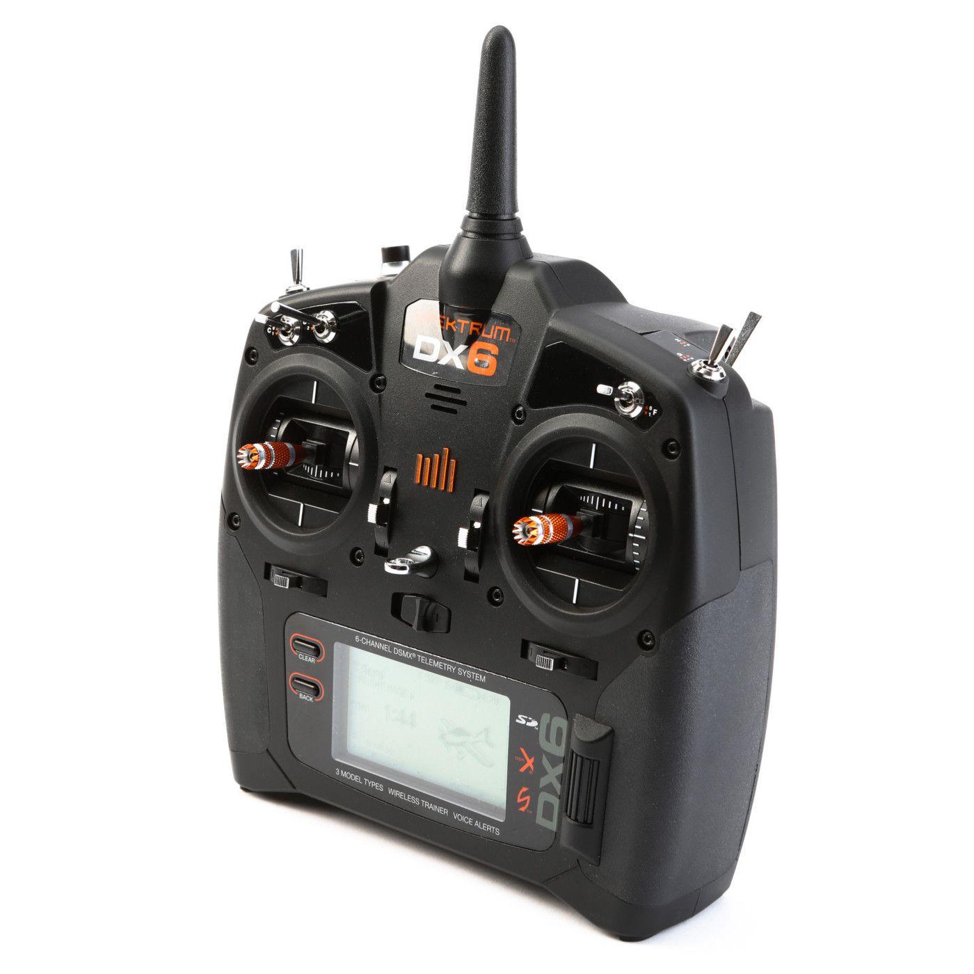 spektrum dx6 6 channel dsmx programmable rc radio transmitter for Spektrum DX5e image for dx6 6 channel dsmx transmitter gen 2 with ar610 receiver, mode 2