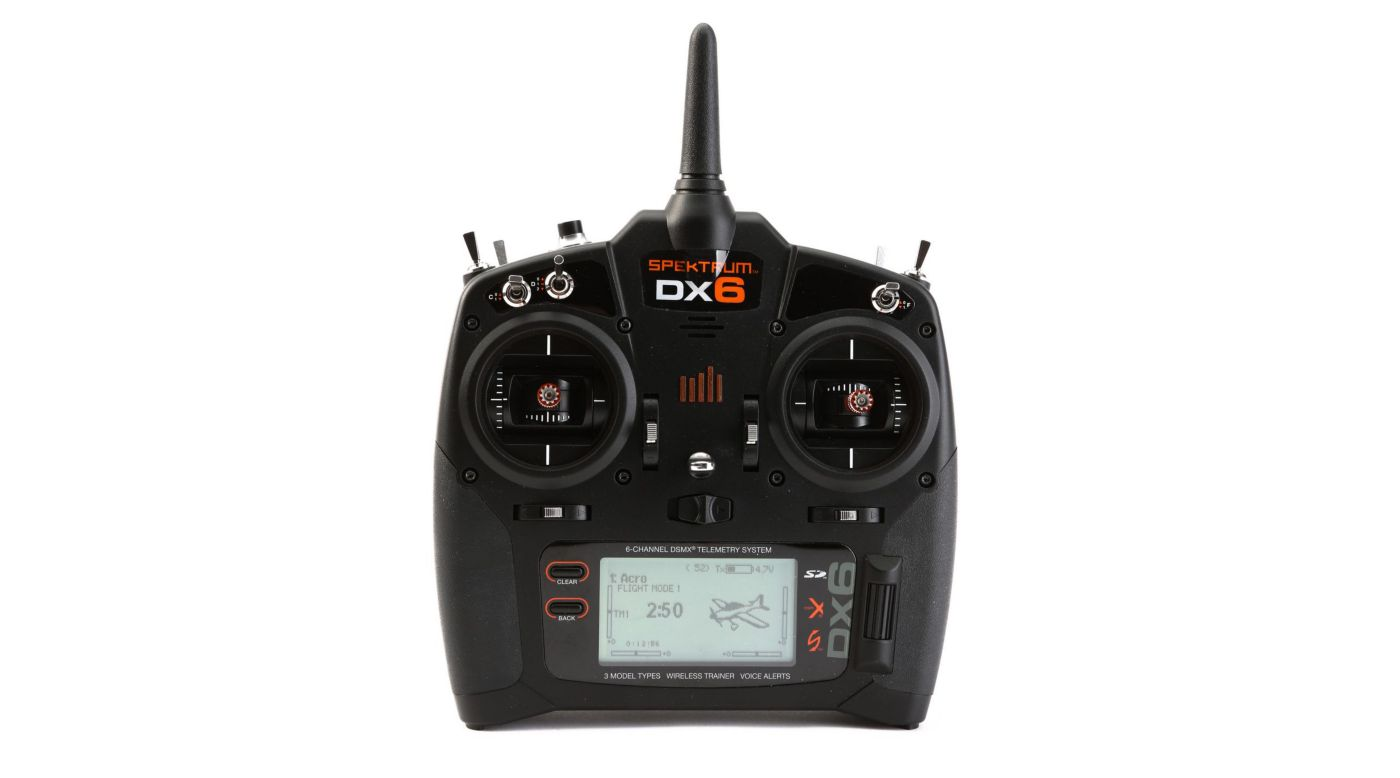 Image for DX6 6-Channel DSMX Transmitter Gen 3 with AR610, Mode 2 from HorizonHobby