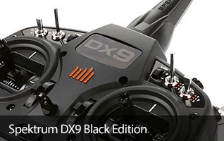 Spektrum DX9 Black Edition Aircraft Drone Airplane Radio Transmitter TX