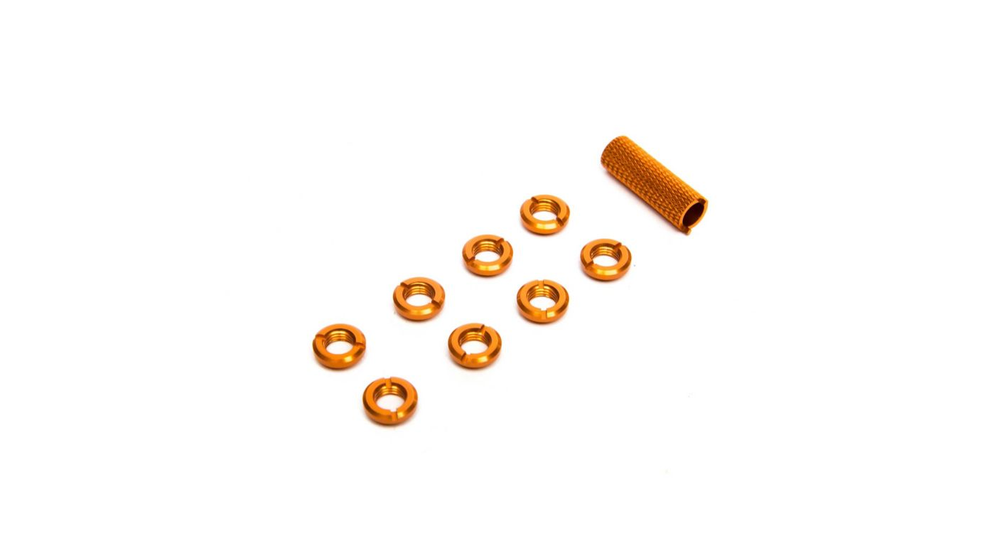 Image for Radio Orange Switch Nuts (8) & Wrench from HorizonHobby