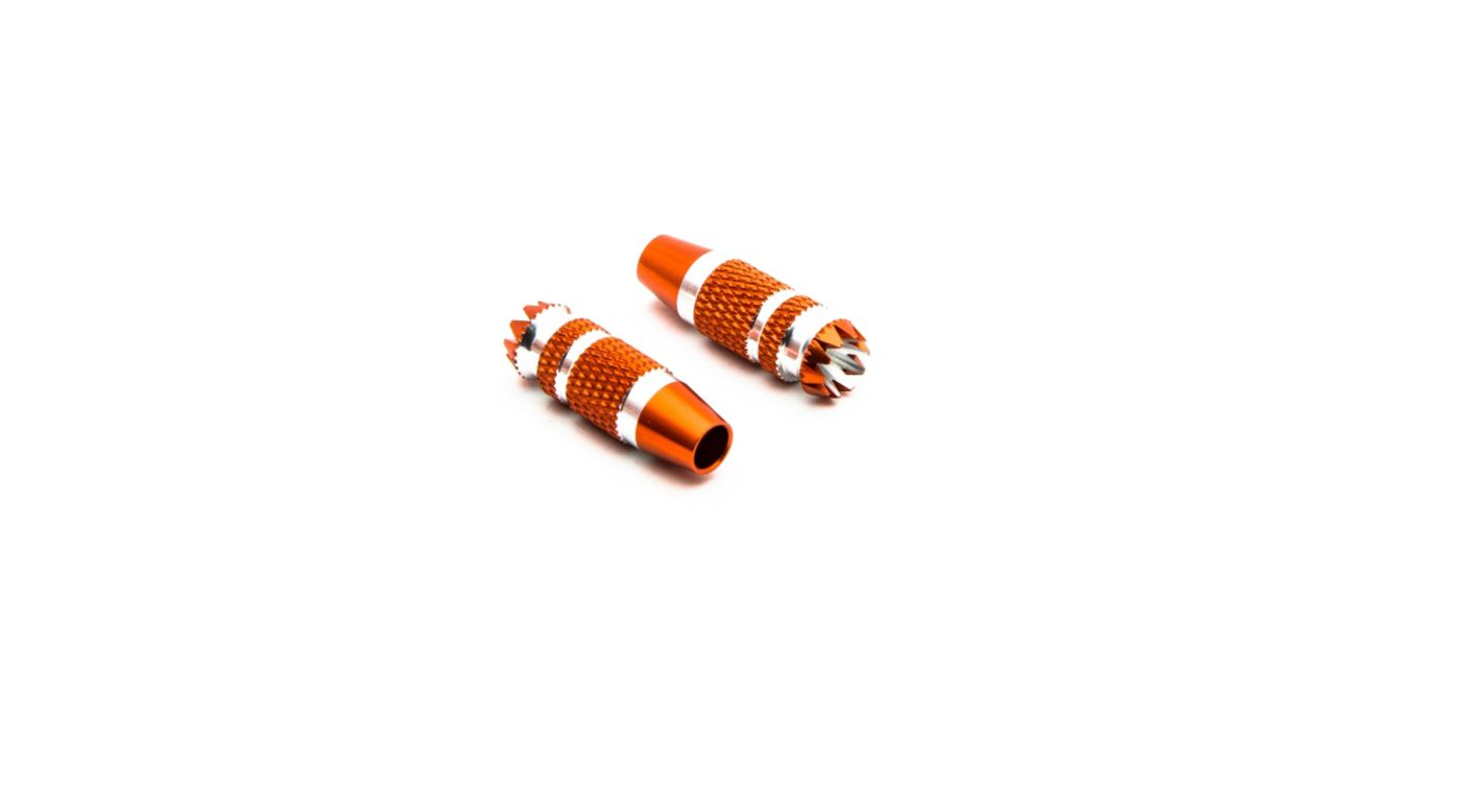 Image for Gimbal Stick Ends 24mm Orange with Silver (2): DX6G2, DX7G2 from Horizon Hobby