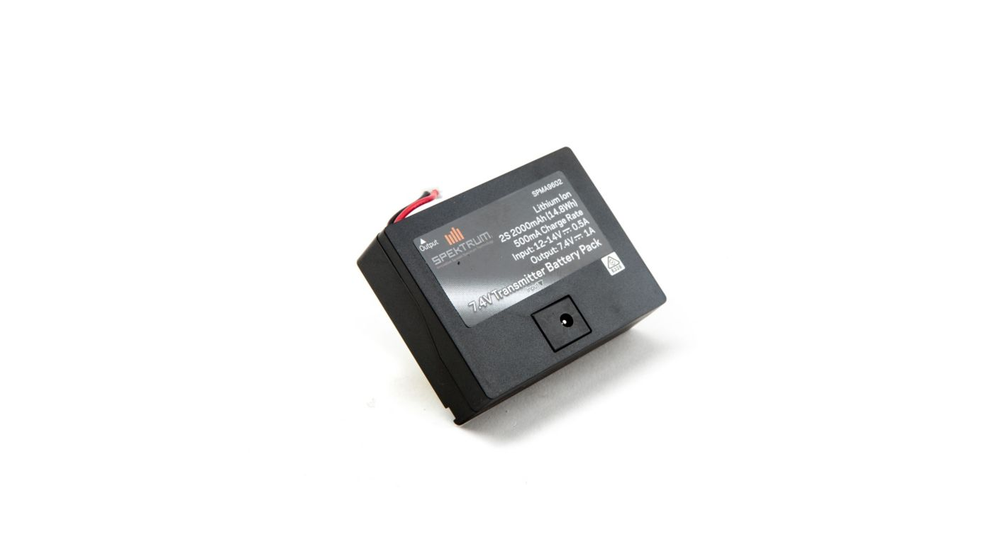 Image for 7.4V 2000mAh 2S Li-Ion Transmitter Battery: TX Plug from HorizonHobby