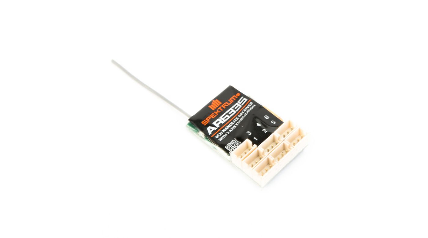 Image for AR6335 DSMX 6-Channel AS3X Nanolite Receiver from HorizonHobby