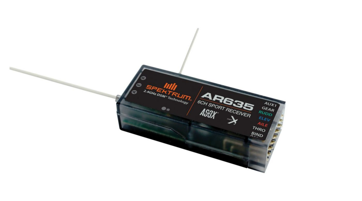 Image for AR635 6-Channel AS3X Sport Receiver from HorizonHobby