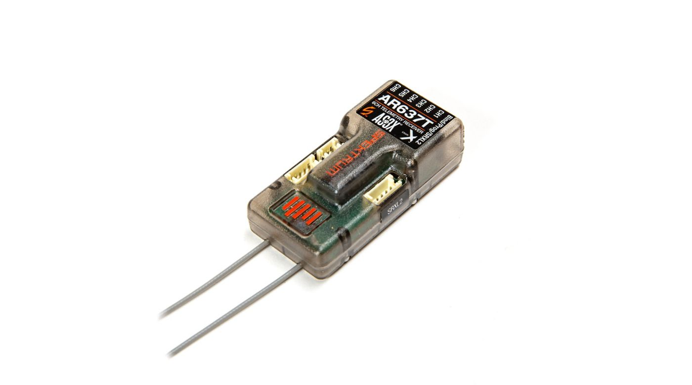 Image for AR637T 6-Channel AS3X Telemetry Receiver from HorizonHobby