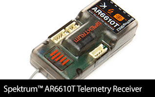 Spektrum AR6610T DSMX Telemetry Receiver