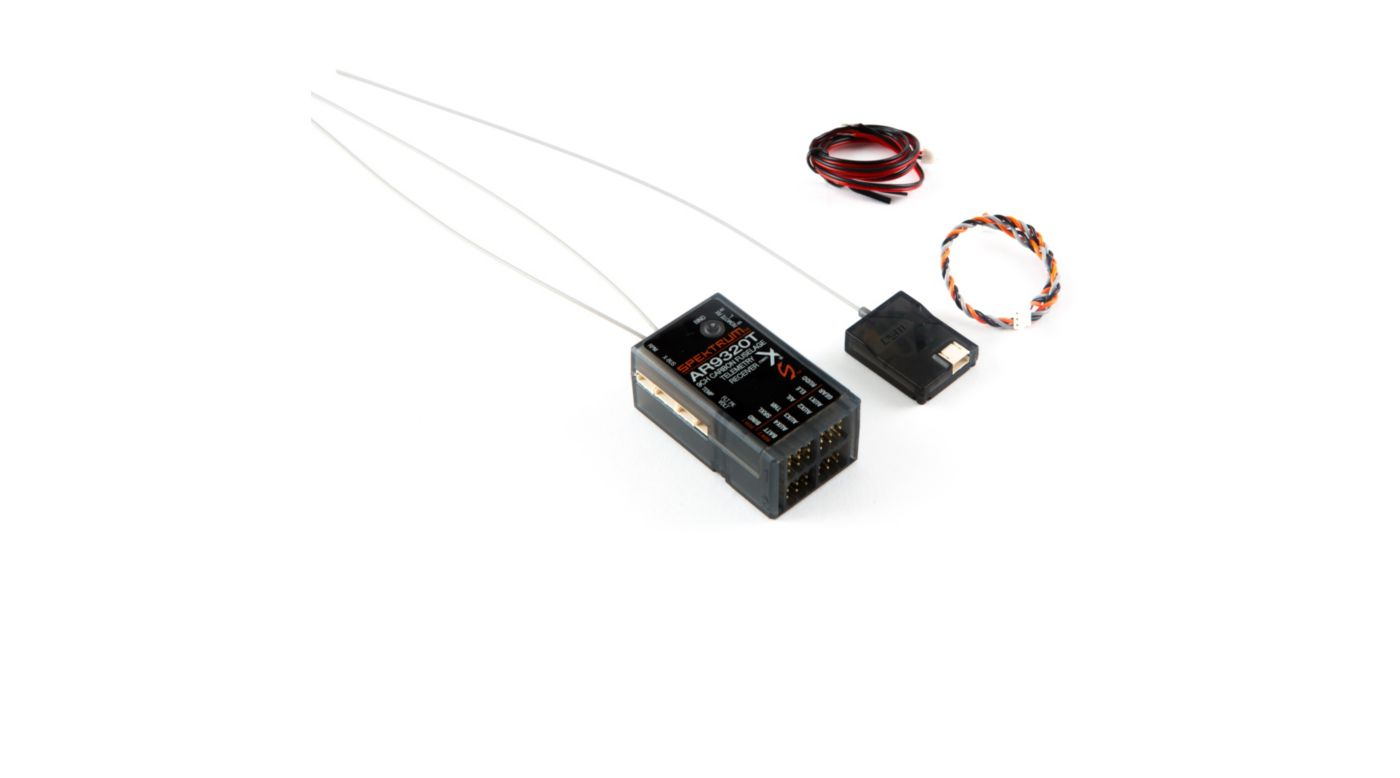 Image for AR9320T 9-Channel Carbon Fuse Telemetry Receiver from Horizon Hobby