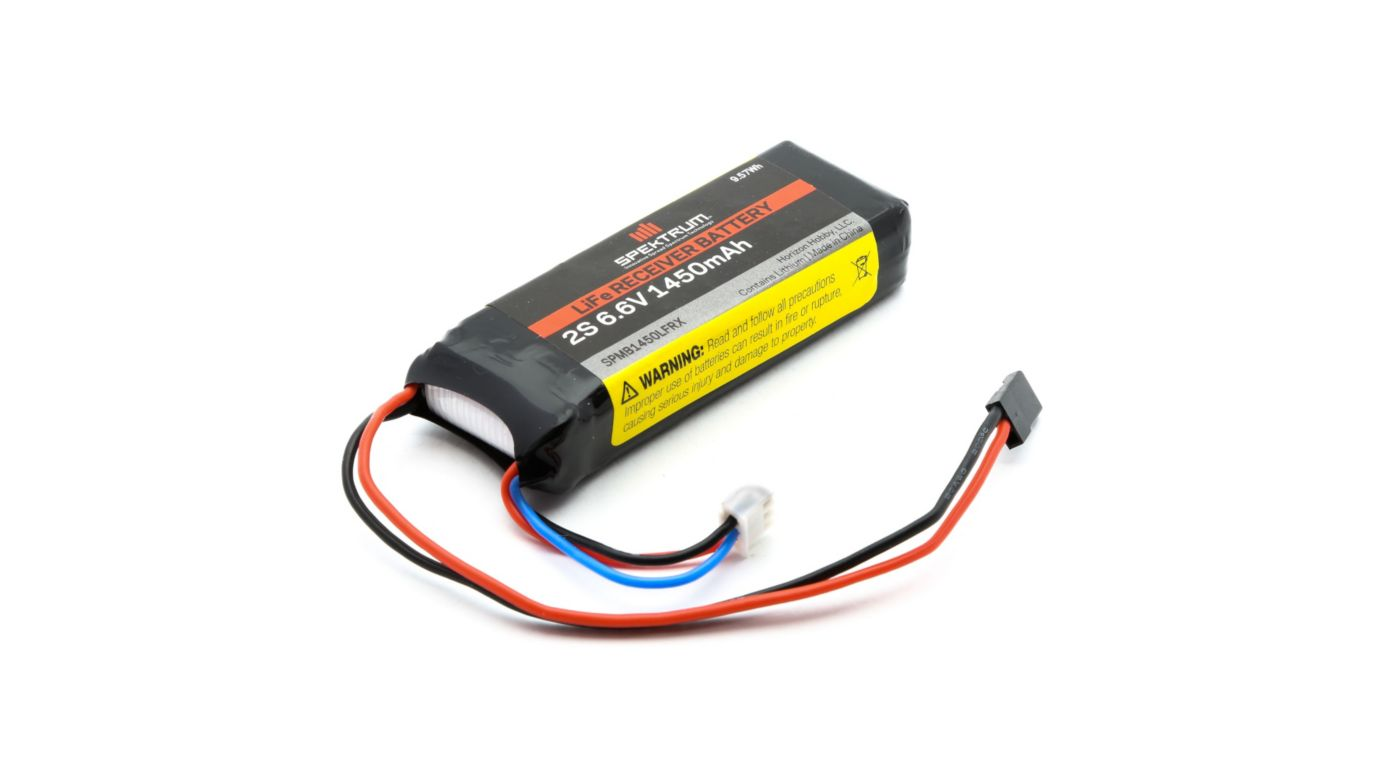Image for 6.6V 1450mAh 2S LiFe Receiver Battery from HorizonHobby
