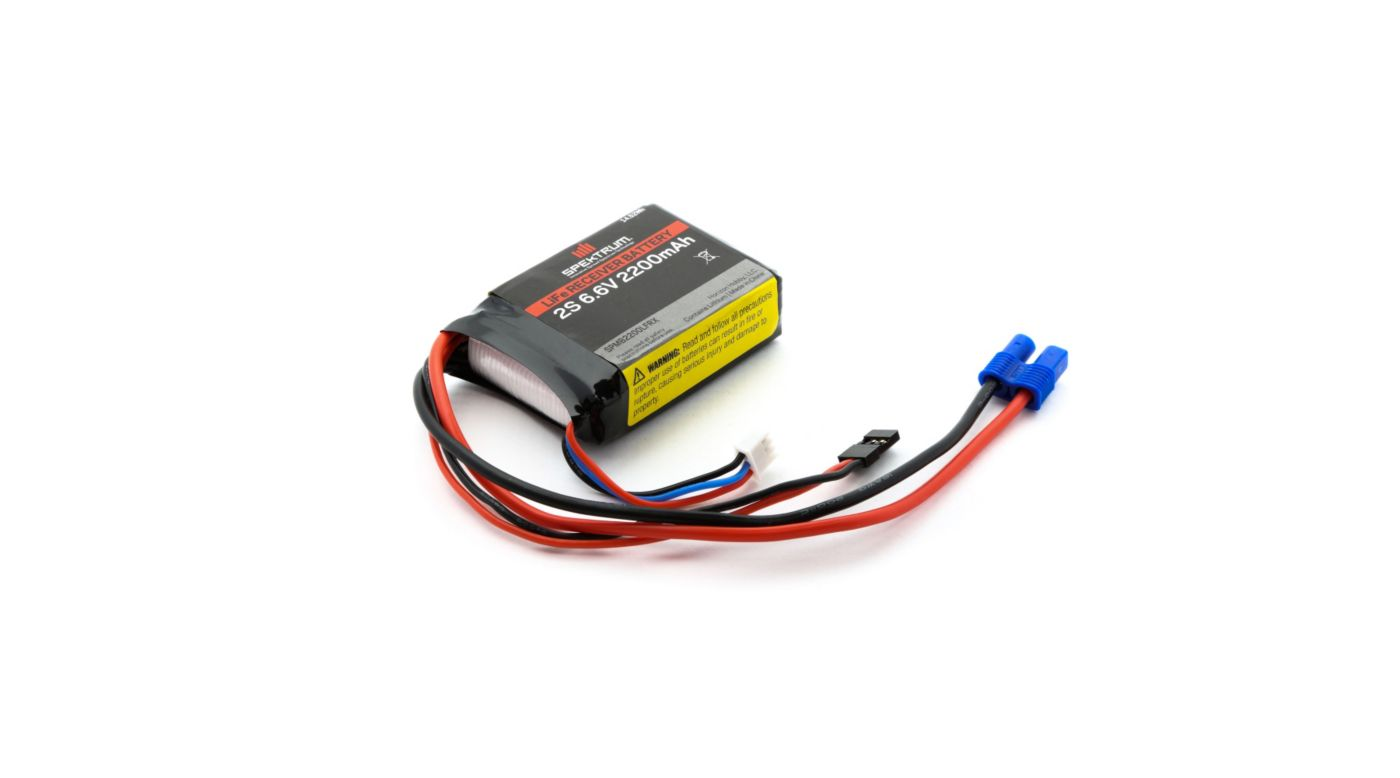 Image for 6.6V 2200mAh 2S LiFe Receiver Battery: Universal Receiver, EC3 from HorizonHobby