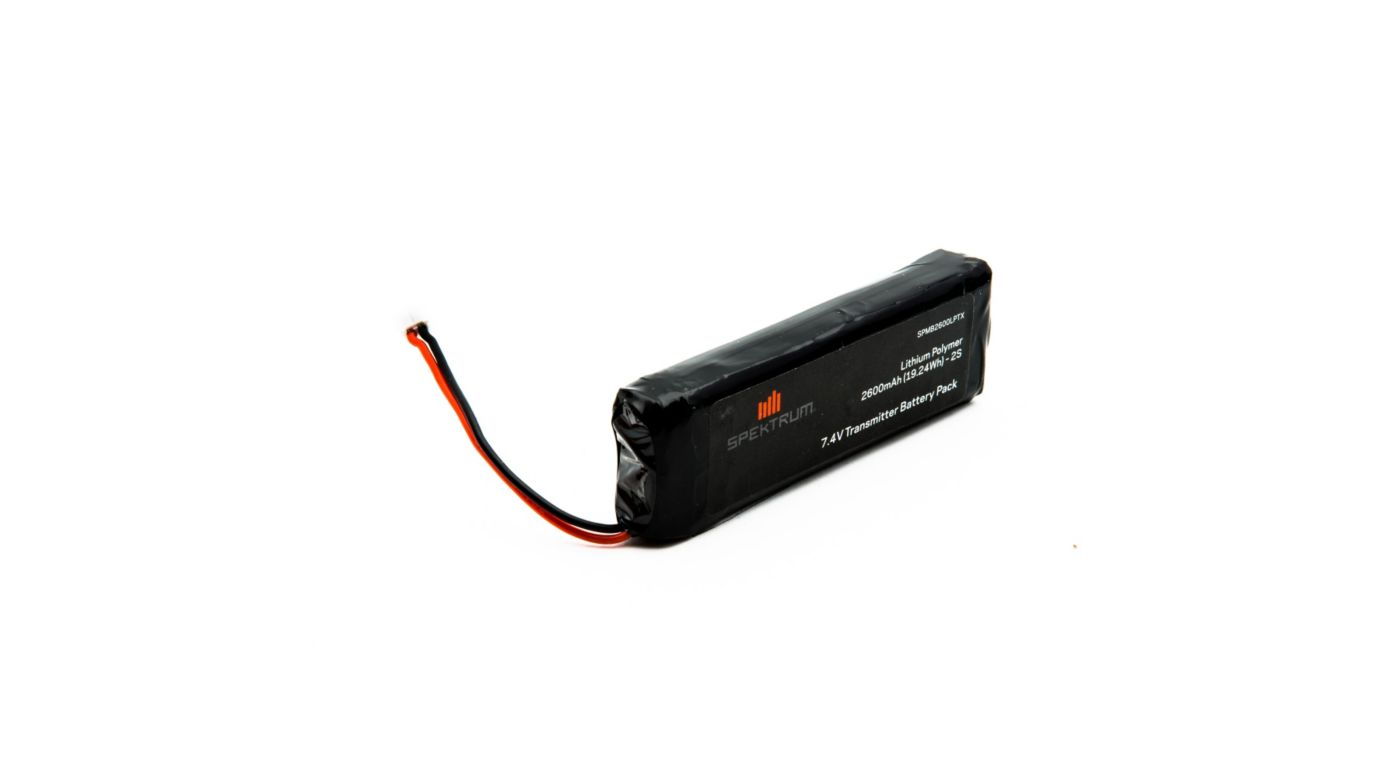 Image for 7.4V 2600mAh 2S LiPo Transmitter Battery: DX18 from Horizon Hobby